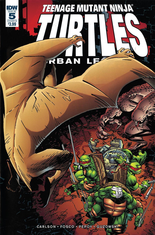 Teenage Mutant Ninja Turtles Urban Legends #5 Cover B Variant Frank Fosco & Erik Larsen Cover