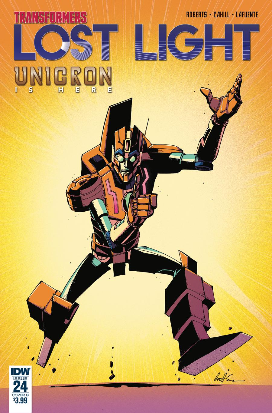 Transformers Lost Light #24 Cover B Variant Geoff Senior Cover