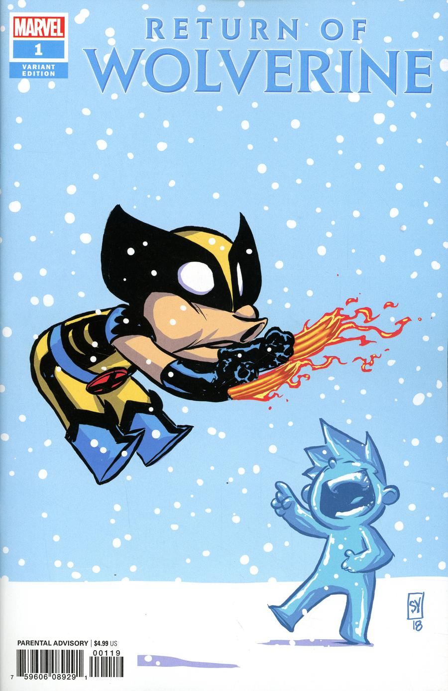 Return Of Wolverine #1 Cover I Variant Skottie Young Baby Cover