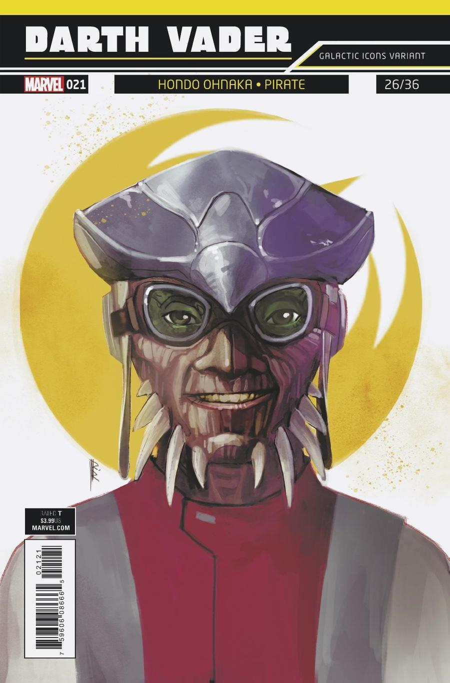Darth Vader Vol 2 #21 Cover B Variant Rod Reis Galactic Icon Cover