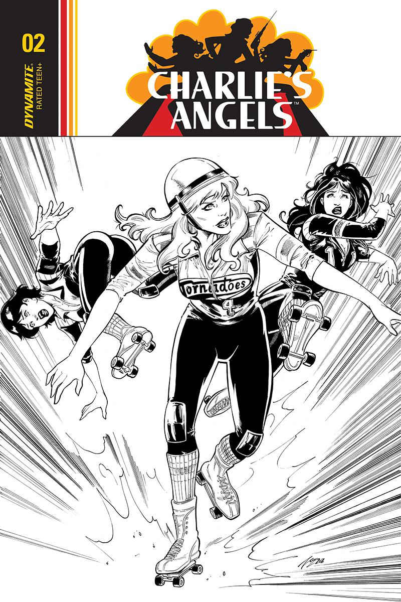 Charlies Angels #4 Cover D Incentive Vicente Cifuentes Black & White Cover