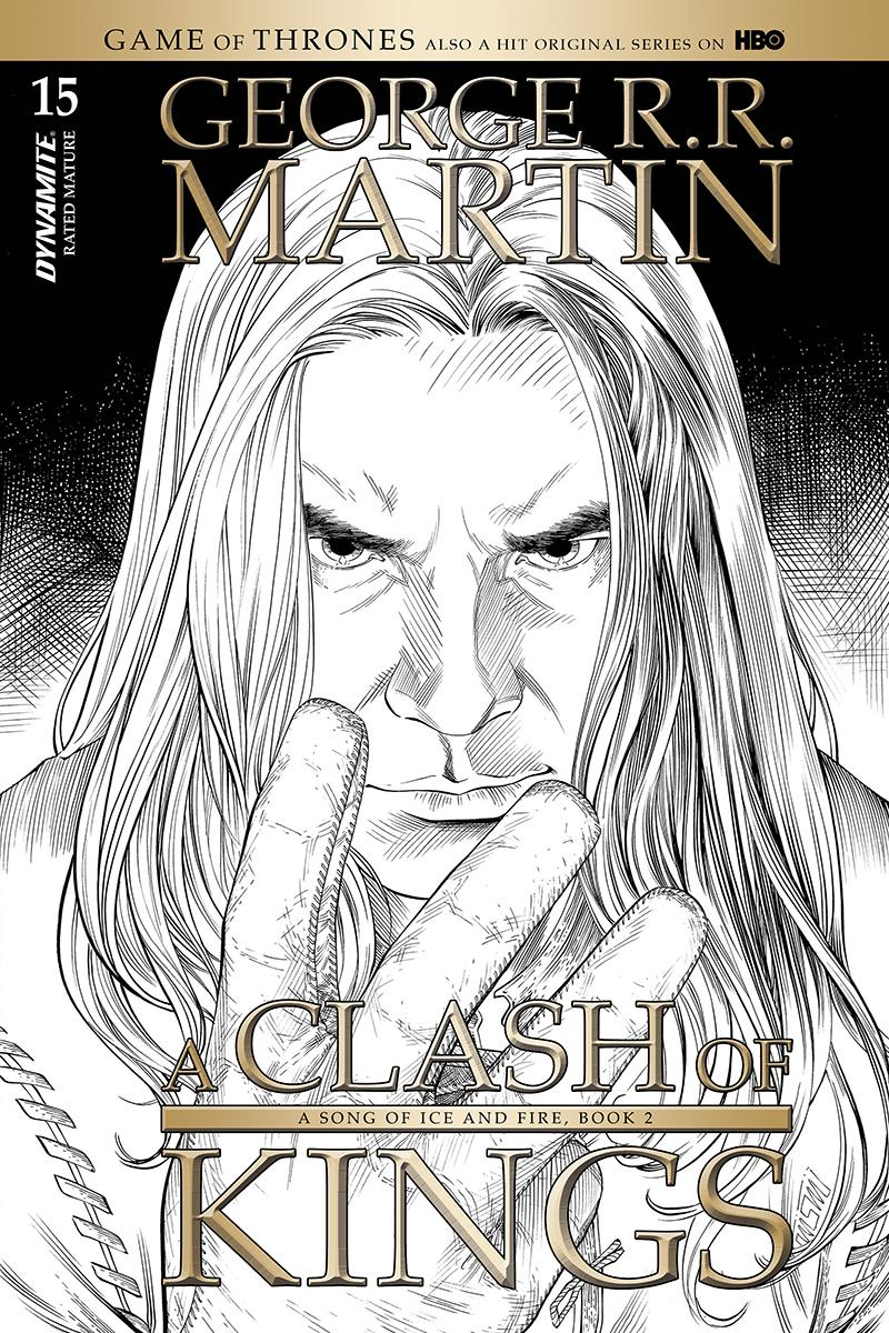 Game Of Thrones Clash Of Kings #15 Cover C Incentive Mike Miller Black & White Cover