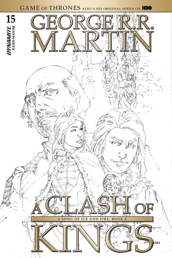 Game Of Thrones Clash Of Kings #15 Cover D Incentive Mel Rubi Black & White Cover