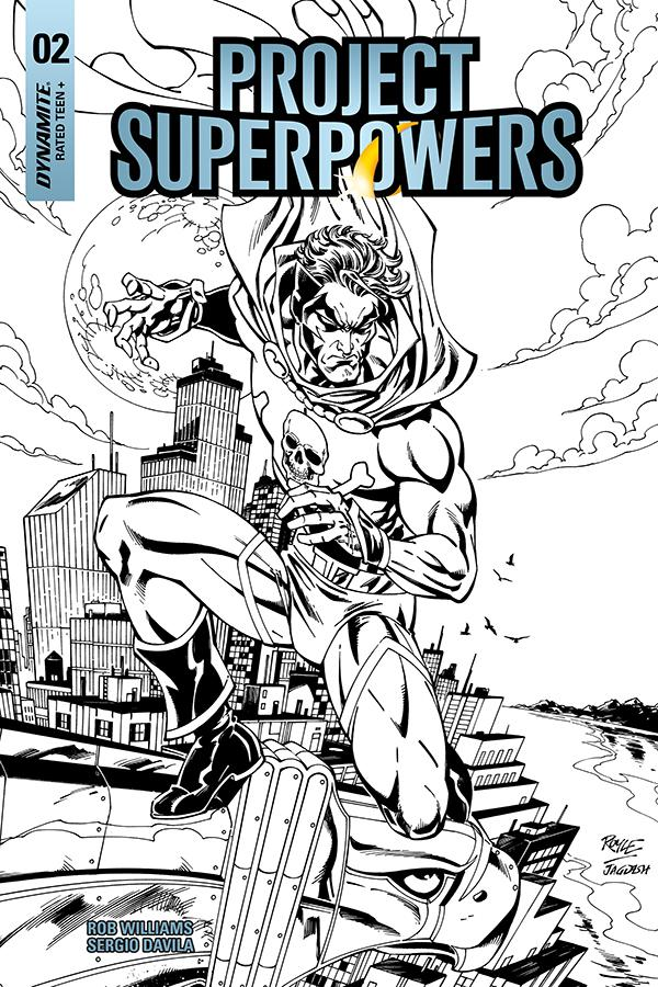 Project Superpowers Vol 3 #2 Cover H Incentive John Royle Black & White Cover
