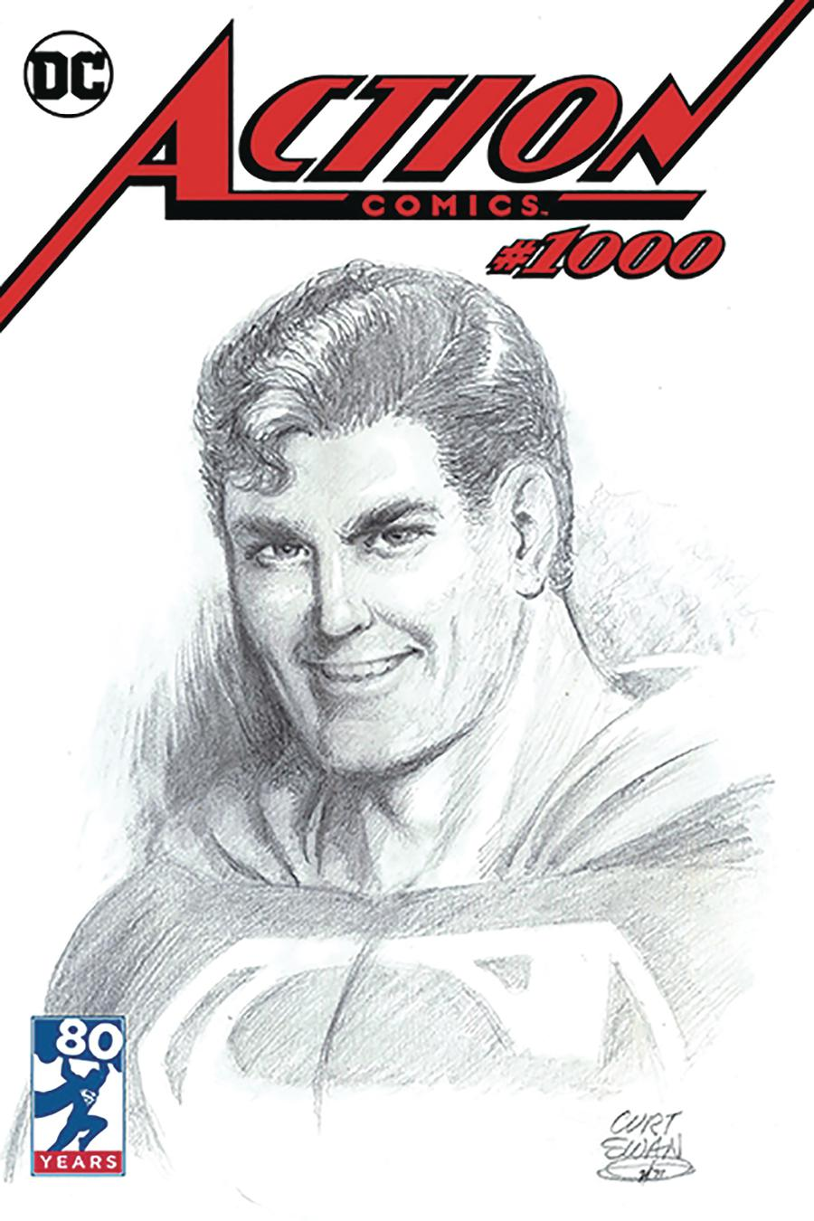 Action Comics Vol 2 #1000 Cover Z-M DF Curt Swan Variant Cover Signed By Scott Snyder