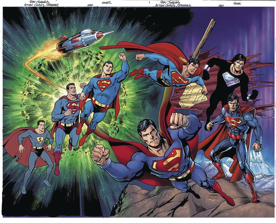 Action Comics Vol 2 #1000 Cover Z-N DF Exclusive Dan Jurgens Variant Cover Signed By Jerry Ordway