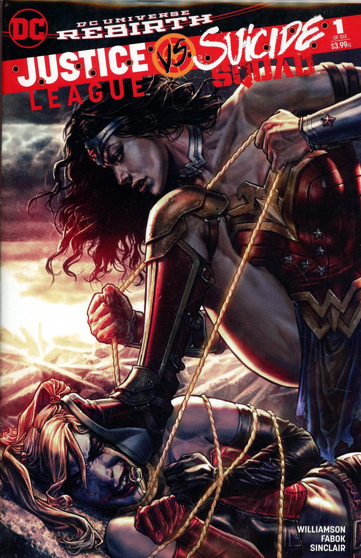 Justice League vs Suicide Squad #1 Cover O DF Jetpack Comics Forbidden Planet Exclusive Lee Bermejo Amazonian Granite Variant Cover