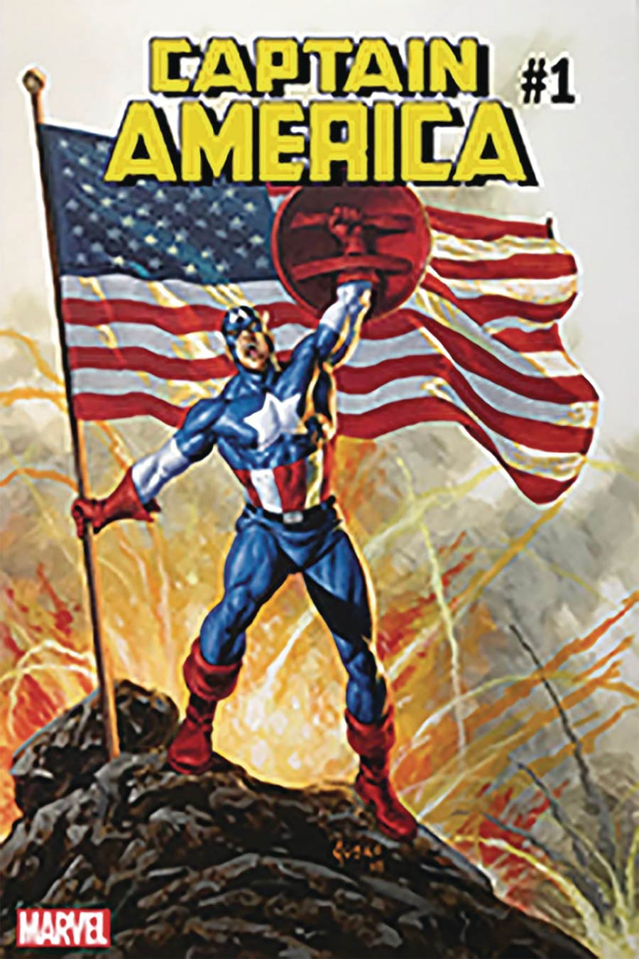 Captain America Vol 9 #1 Cover T DF Signed By Joe Jusko