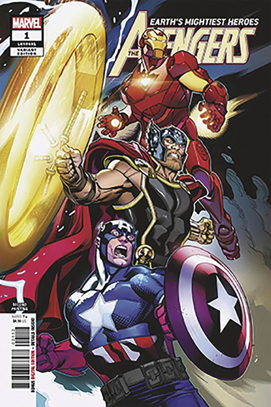 Avengers Vol 7 #1 Cover N DF Encore Edition Signed By Mark Morales