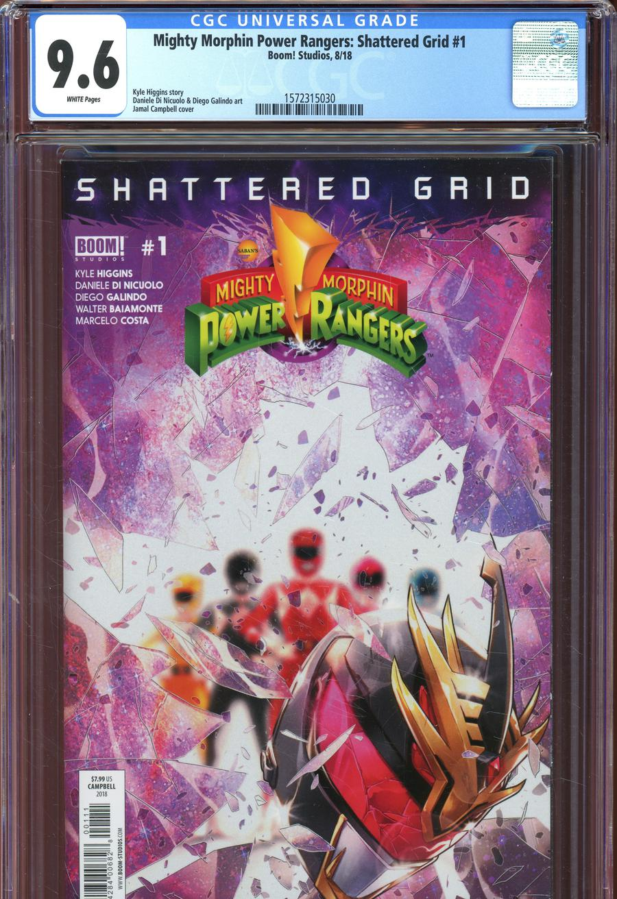 Mighty Morphin Power Rangers Shattered Grid #1 Cover F DF CGC Graded