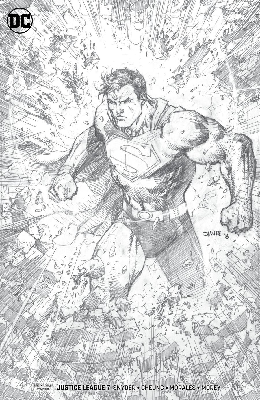 Justice League Vol 4 #7 Cover C Incentive Jim Lee Pencils Only Cover