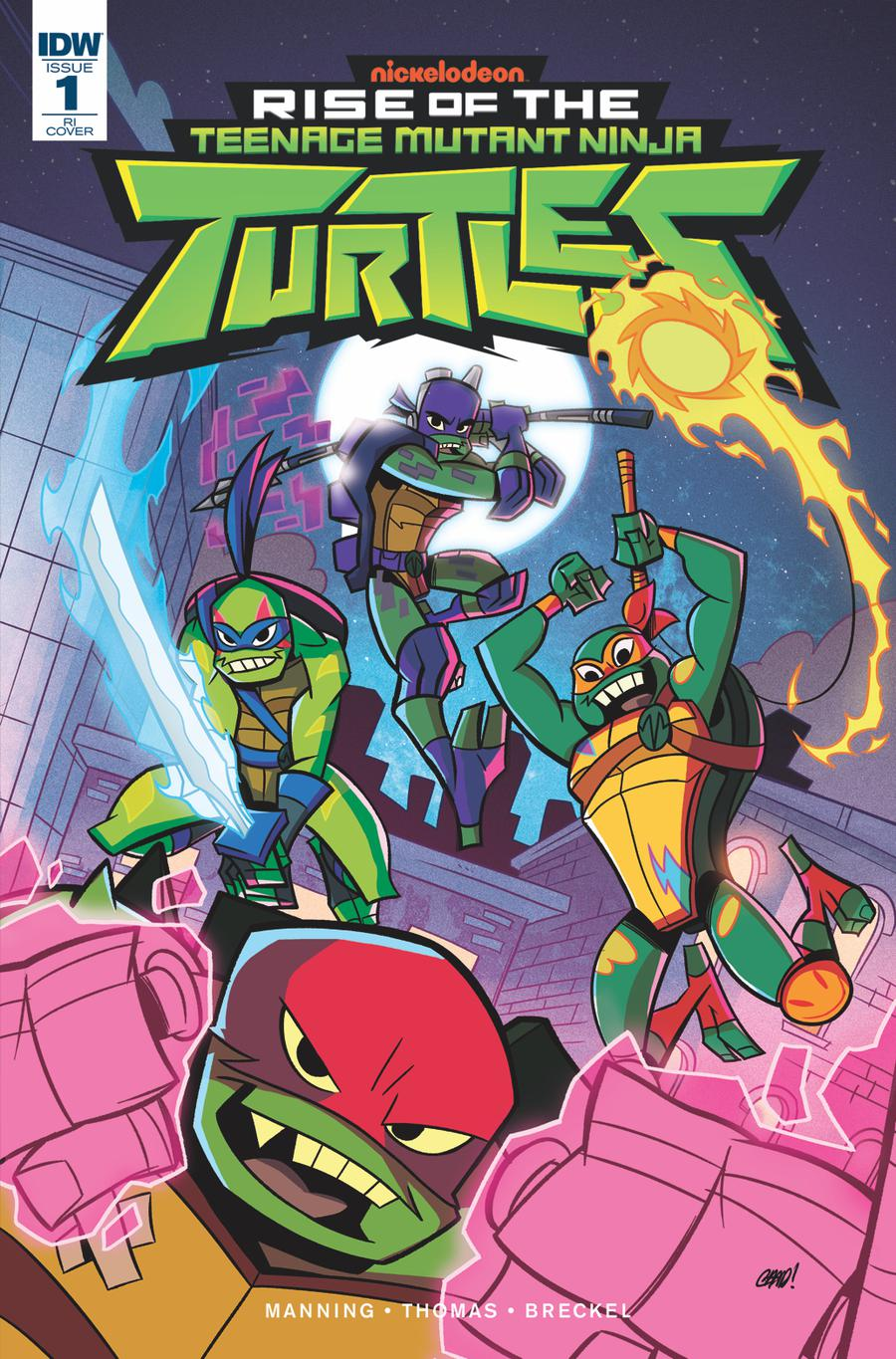 Rise Of The Teenage Mutant Ninja Turtles #1 Cover B Incentive Chad Thomas Variant Cover