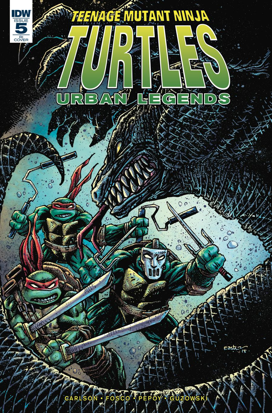 Teenage Mutant Ninja Turtles Urban Legends #5 Cover C Incentive Kevin Eastman Variant Cover
