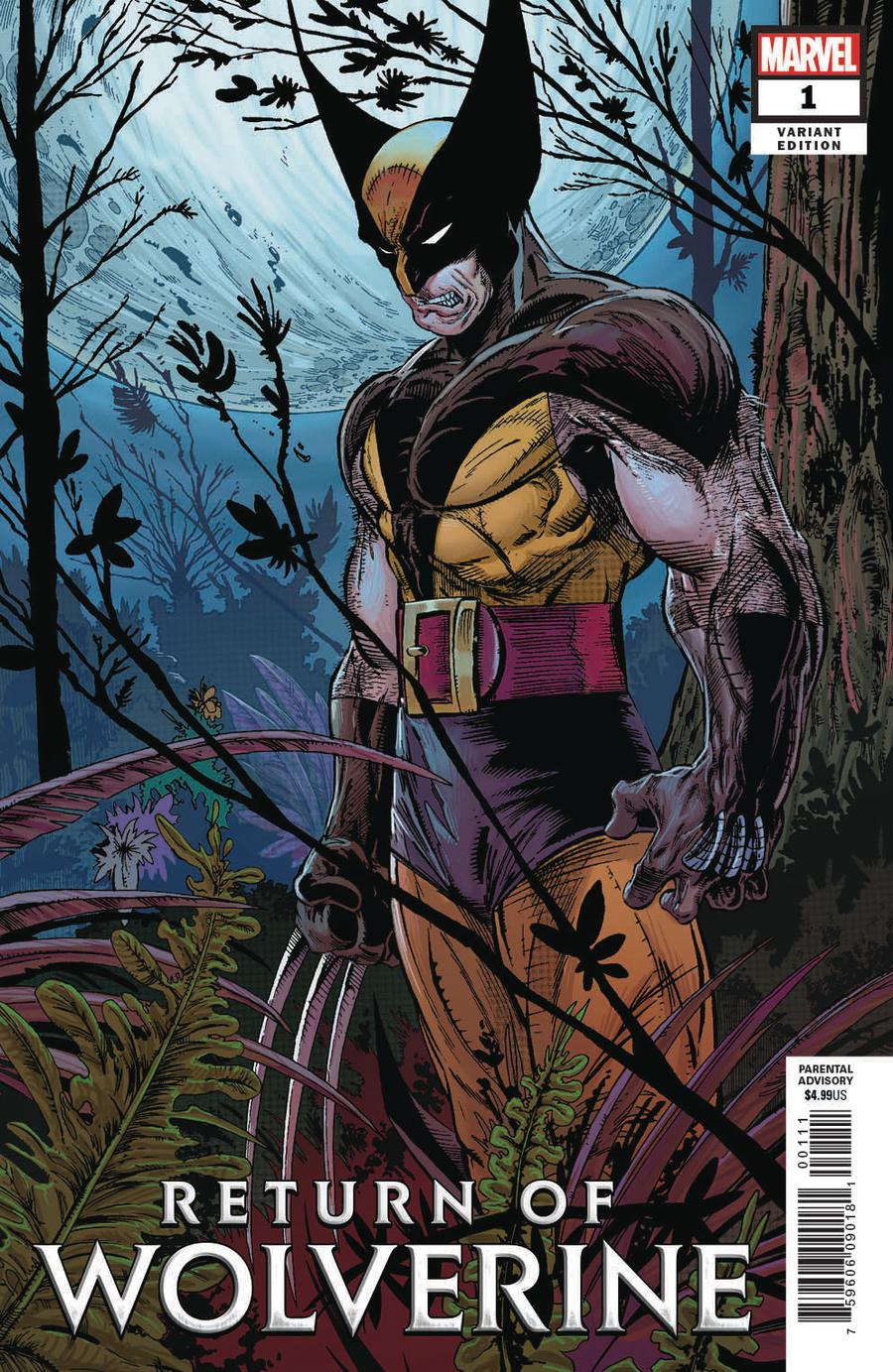 Return Of Wolverine #1 Cover T Incentive Todd McFarlane Remastered Color Variant Cover