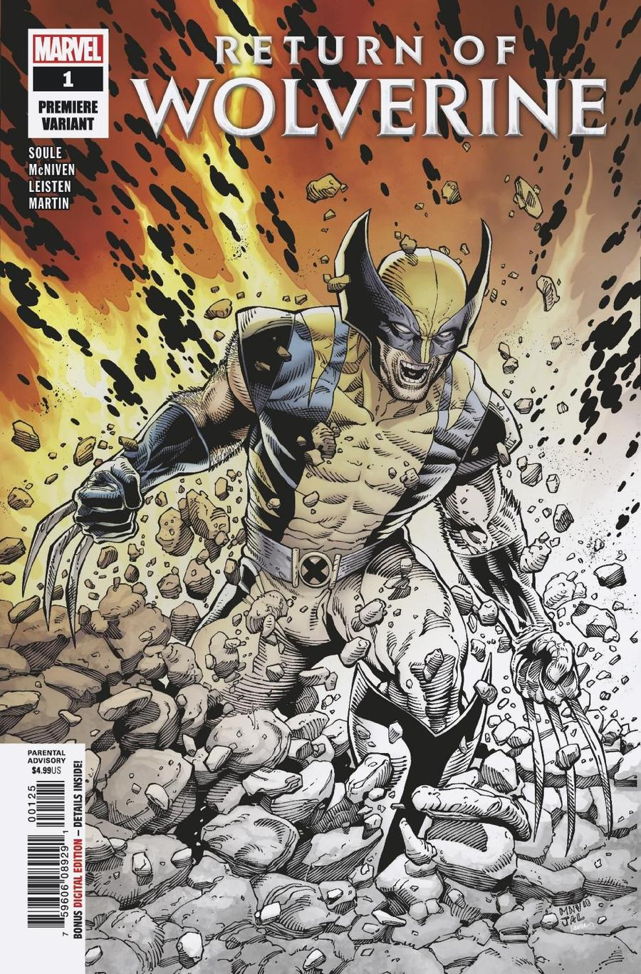 Return Of Wolverine #1 Cover X Incentive Steve McNiven Premiere Variant Cover