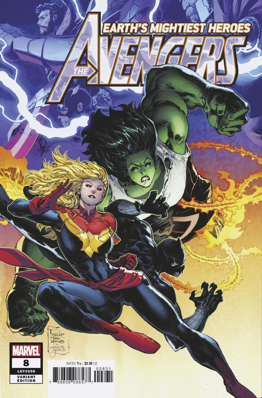 Avengers Vol 7 #8 Cover C Incentive Philip Tan Variant Cover