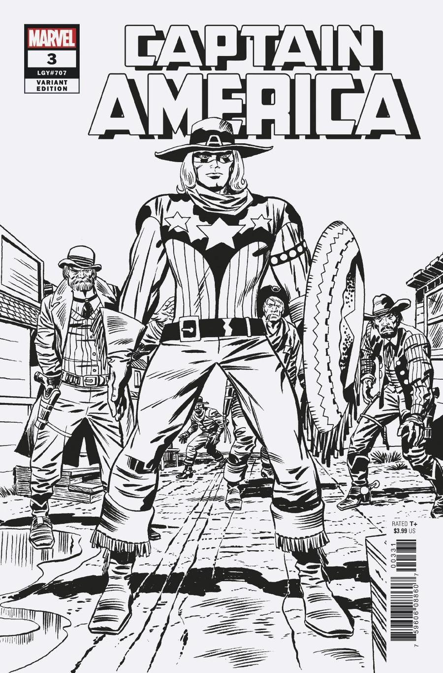 Captain America Vol 9 #3 Cover D Incentive Jack Kirby Remastered Sketch Variant Cover