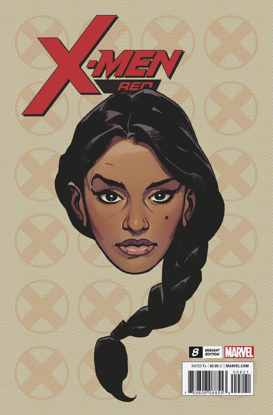 X-Men Red #8 Cover C Incentive Travis Charest Headshot Variant Cover