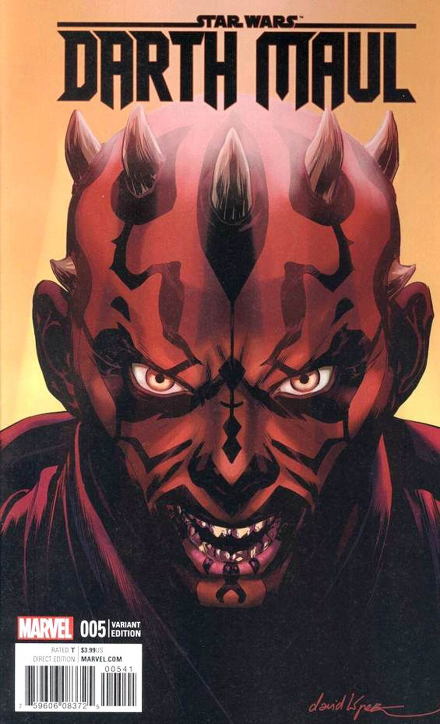 Star Wars Darth Maul #5 Cover G David Lopez Variant Cover