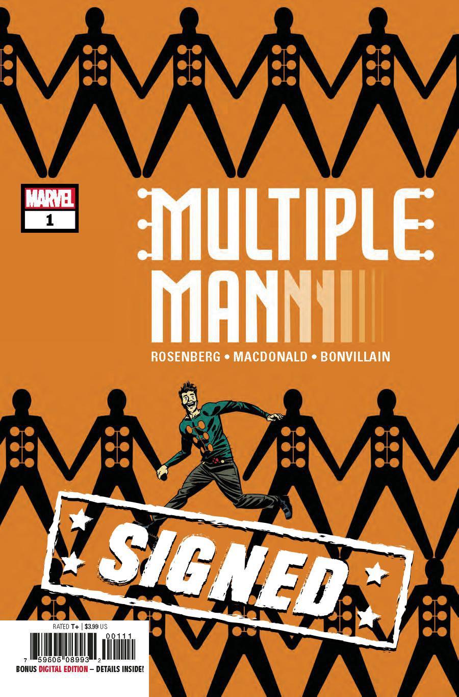 Multiple Man #1 Cover D Regular Marcos Martin Cover Signed By Matthew Rosenberg