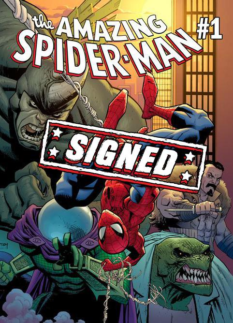 Amazing Spider-Man Vol 5 #1 Cover P Regular Ryan Ottley Cover Signed By Nick Spencer