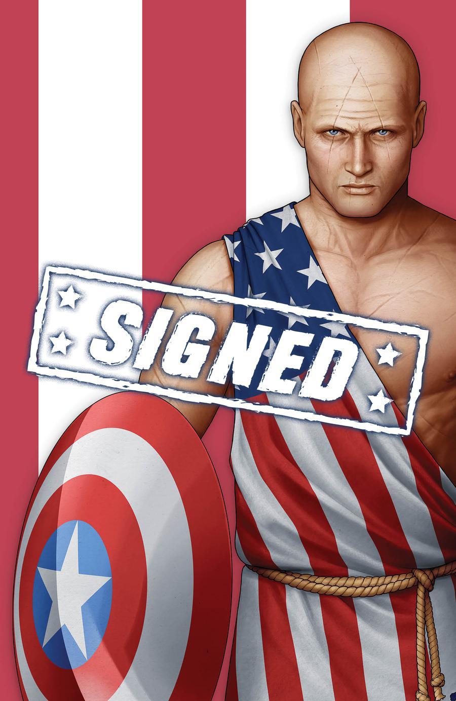 Captain America Vol 9 #1  Midtown Exclusive John Tyler Christopher Cover P Earth X Captain America Virgin Variant Signed By John Tyler Christopher