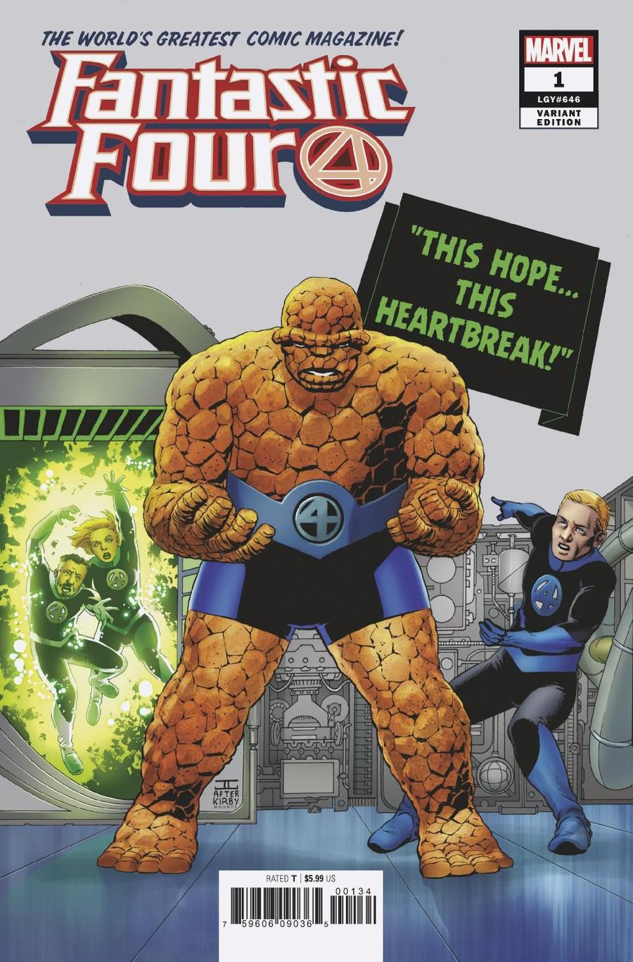 Fantastic Four Vol 6 #1 Cover K Variant John Cassaday Cover