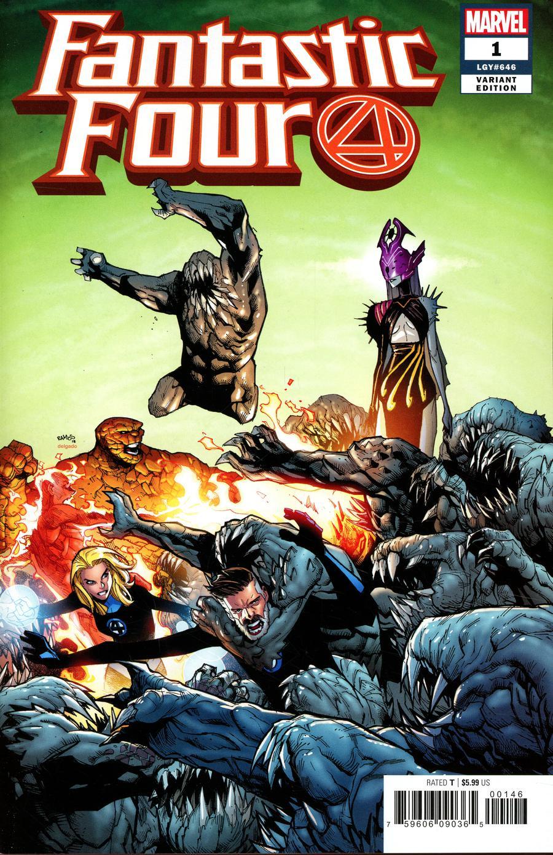 Fantastic Four Vol 6 #1 Cover P Variant Humberto Ramos Cover