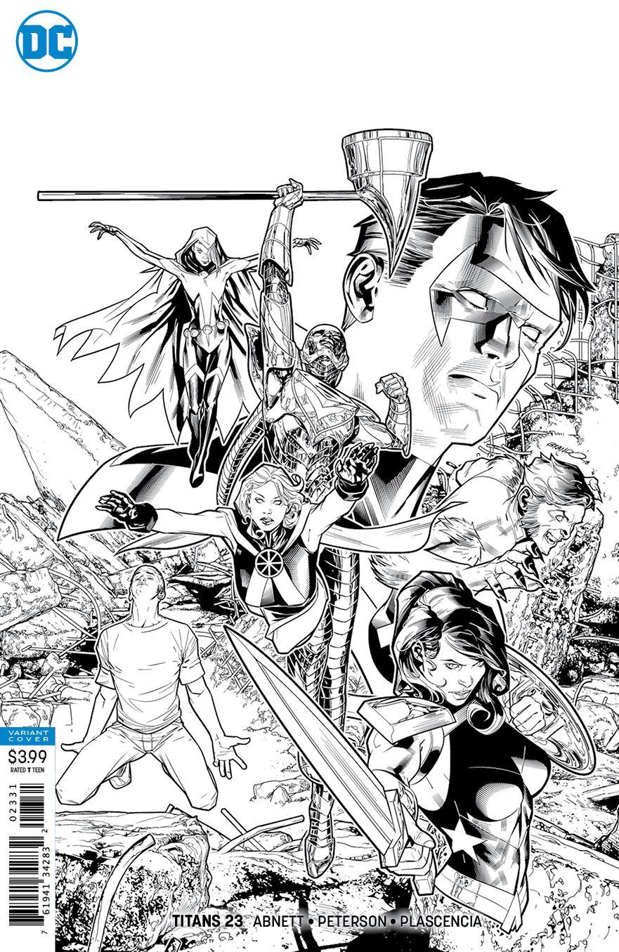 Titans Vol 3 #23 Cover C Incentive Brandon Peterson Sketch Cover