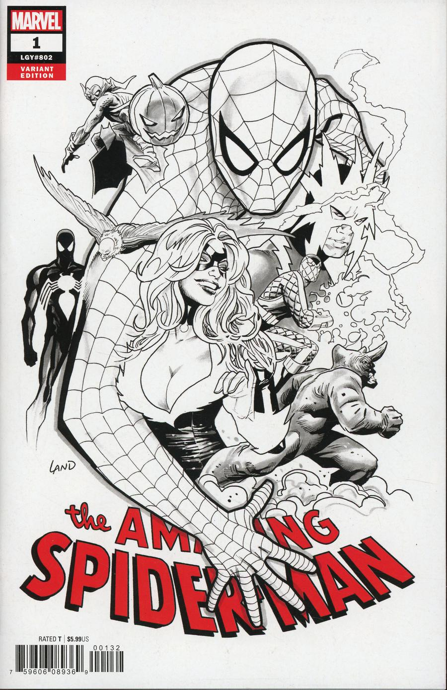 Amazing Spider-Man Vol 5 #1 Cover L Incentive Party Sketch Cover