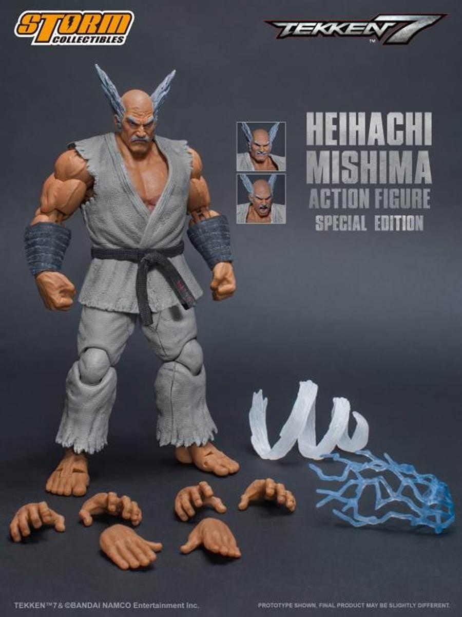 Tekken 7 1/12 - Heihachi Mishima Special Edition White Version Action Figure