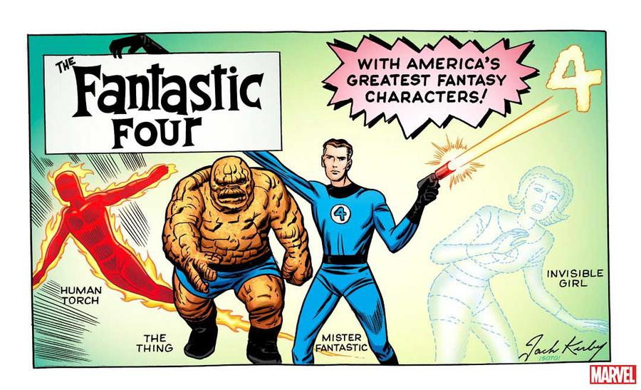 Fantastic Four Vol 6 #1 Cover Q Variant Jack Kirby Hidden Gem Cover