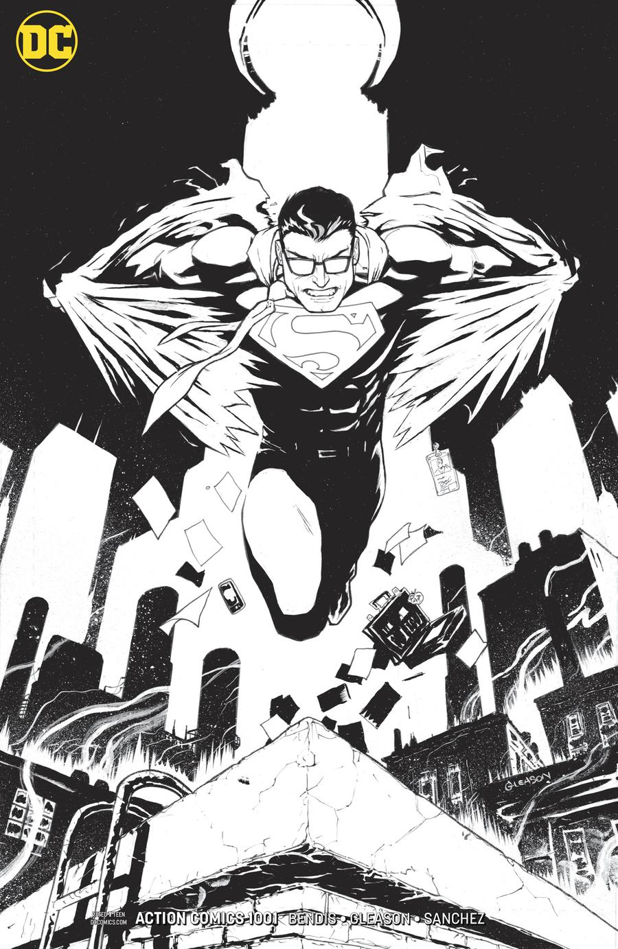 Action Comics Vol 2 #1001 Cover D Incentive Patrick Gleason Inks Only Cover