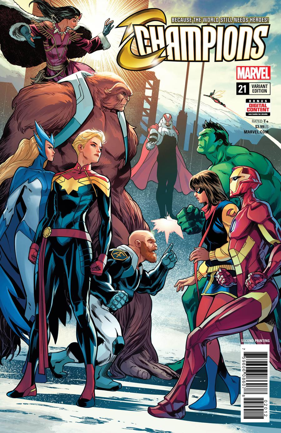Champions (Marvel) Vol 2 #21 Cover B 2nd Ptg Variant Sean Izaakse Cover