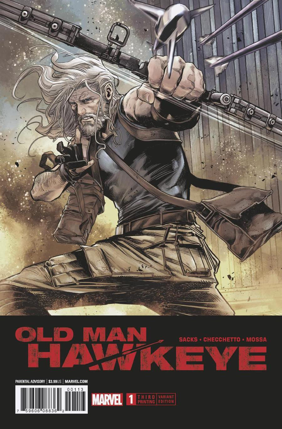 Old Man Hawkeye #1 Cover J 3rd Ptg Variant Marco Checchetto Cover