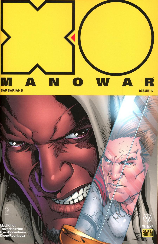 X-O Manowar Vol 4 #17 Cover C Variant Shane Davis Cover