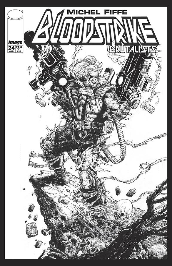 Bloodstrike #24 Cover E Variant Dan Fraga Black & White Cover
