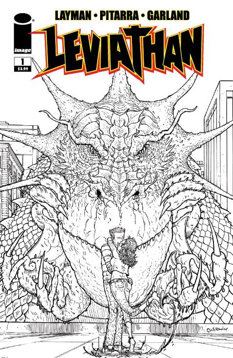 Leviathan #1 Cover C Incentive Nick Pitarra Black & White Cover
