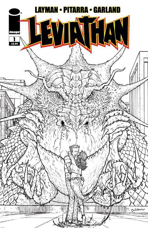 Leviathan #1 Cover C Incentive Nick Pitarra Black & White Cover