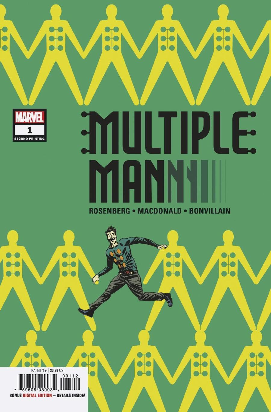 Multiple Man #1 Cover E 2nd Ptg Variant Marcos Martin Cover