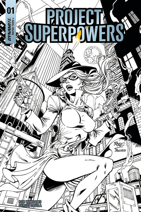 Project Superpowers Vol 3 #1 Cover L Incentive John Royle Black & White Cover