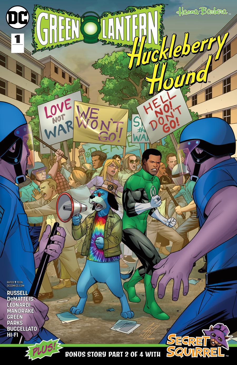 Green Lantern Huckleberry Hound Special #1 Cover A Regular Sami Basri Cover