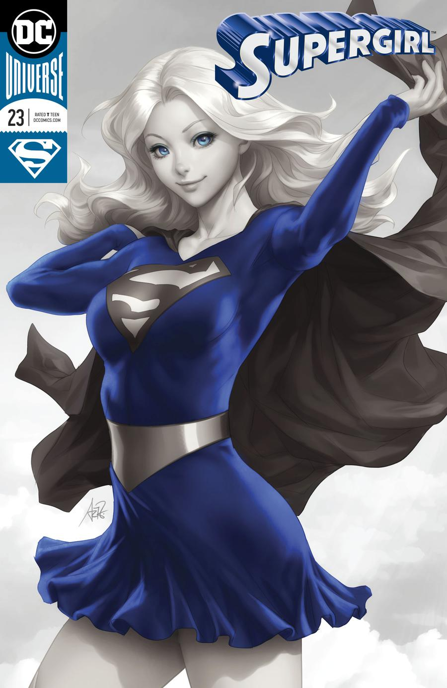 Supergirl Vol 7 #23 Cover A Regular Stanley Artgerm Lau Enhanced Foil Cover