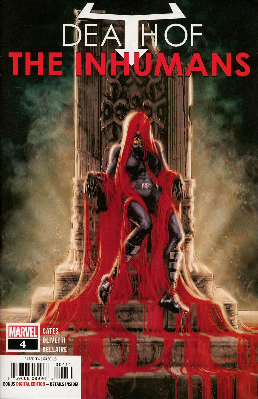 Death Of The Inhumans #4 Cover A Regular Kaare Andrews Cover