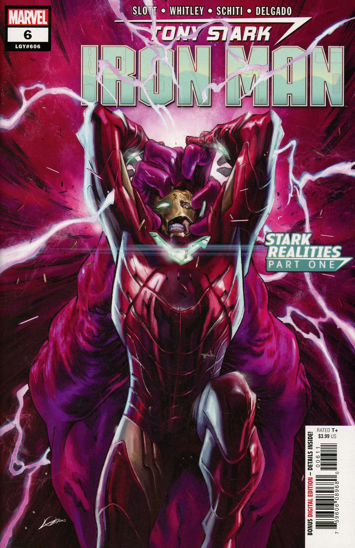 Tony Stark Iron Man #6 Cover A Regular Alexander Lozano Cover