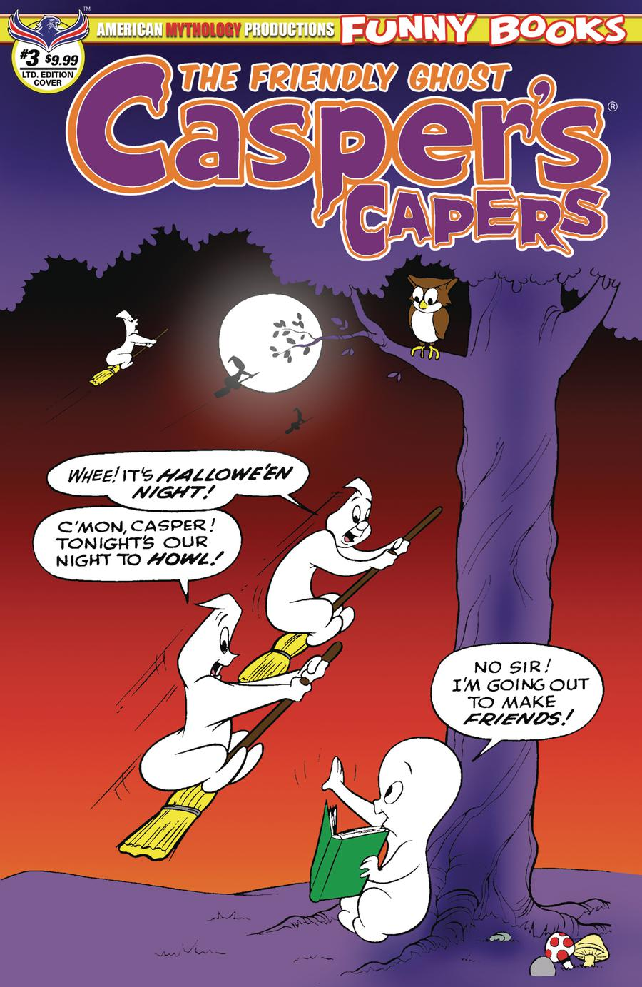 Caspers Capers #3 Cover B Variant Warren Kremer Limited Edition Vantage Cover