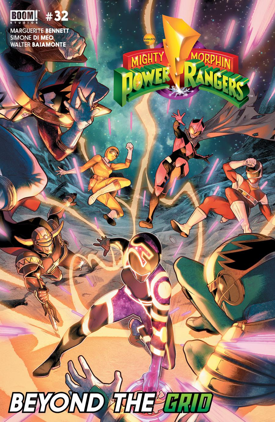 Mighty Morphin Power Rangers (BOOM Studios) #32 Cover A Regular Jamal Campbell Cover (Shattered Grid Epilogue)