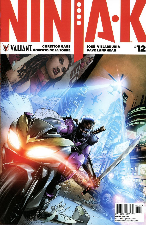 Ninja-K #12 Cover B Variant Koi Turnbull Cover