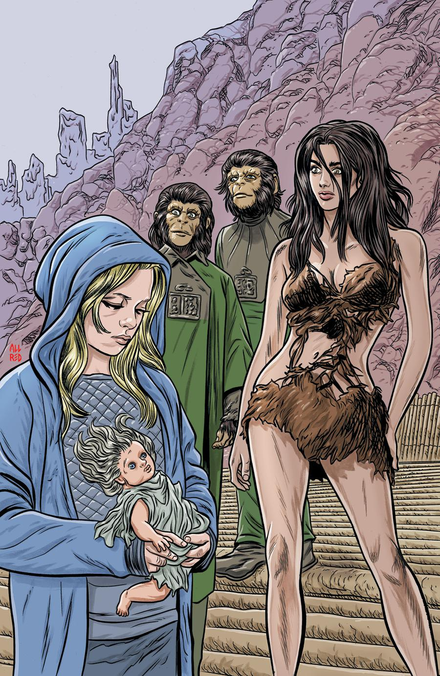 Planet Of The Apes Time Of Man #1 Cover B Variant Michael Allred Virgin Cover
