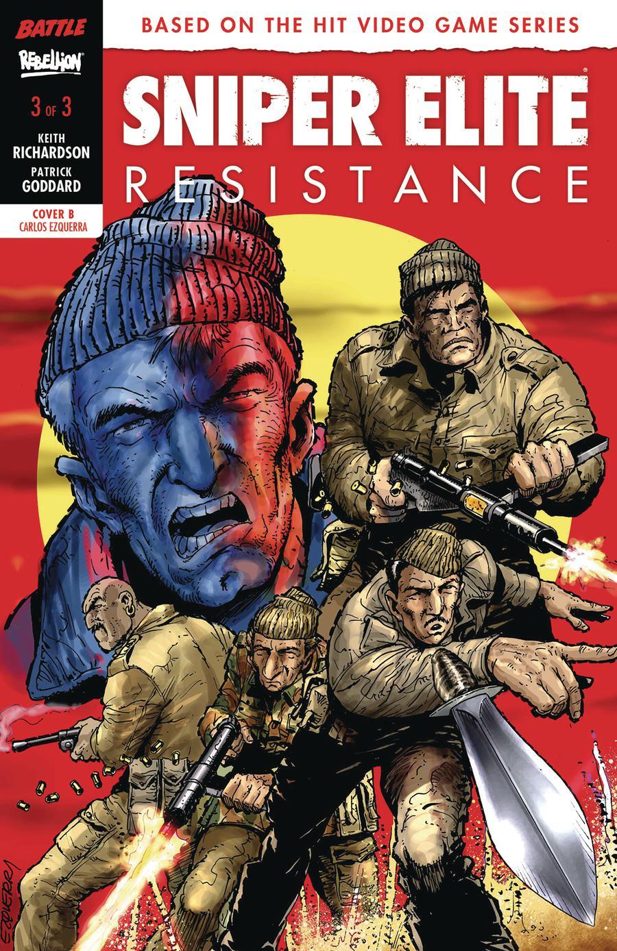 Sniper Elite Resistance #3 Cover B Variant Carlos Ezquerra Cover